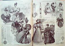 LA MODE ILLUSTREE-1896-10-avec PATRONS-VOIR MODELES DETAILLES