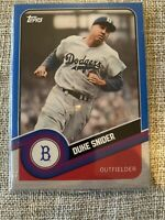 2020 Topps Brooklyn Collection Duke Snider Blue Parallel /40 Brooklyn Dodgers