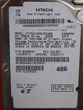 60GB Hitachi HTS541660J9SA00 | P/N: 0A50684 | MLC: DA1587 | DEC-06 #486