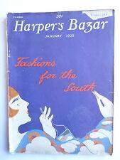 "MAGAZINE FEMININ MODE HARPER'S BAZAR "" Fashions for the South"" 1925 ART DECO"