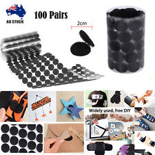 100 Pairs Self Adhesive Sticky Back Hook and Loop Fastening Tape Dots Stickers