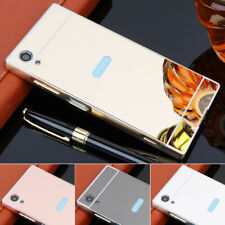 For Oppo A37 A39 A57 A59 F1S A73 case Aluminum Bumper Plating Mirror Back Cover