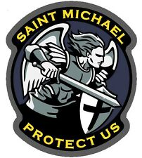 Saint St Michael Protect Tactical Vinyl Decal Sticker Usa Military Car Window