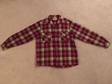 VTG Merrill Woolen Mills Button Down Long Sleeve Rare Original Wool Mod Flannel