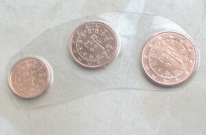 Portugal 2021 - 1, 2 und 5 Cent aus KMS, in BU