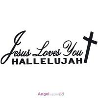 Car Styling Jesus Loves You Hallelujah Christian Reflective Car Sticker