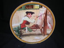 Knowles Norman Rockwell's Sign of the Times Boxed Plate