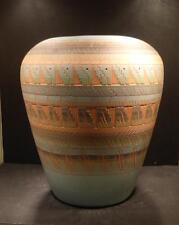 """Navajo Native American Southwest Indian Etched Vase - 12"""", Billy Dennison"""