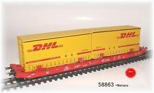 MEHANO 58863 - dc- Vagón de transporte de Vagón tipo sgkkms 689 con Jumbo