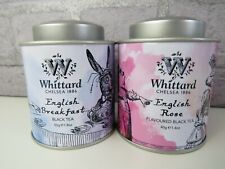 New WHITTARD  ALICE IN WONDERLAND Tea set English Breakfast + English rose mini