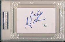 MARIAH CAREY Signed 4x6 Index Card Dreamlover / Hero / One Sweet Day GAI PSA/DNA