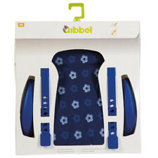 "Qibbel Rear Bicycle Child Seat Cushion/Armrest Styling Set ""BLUE FLOWER"" Pattern"