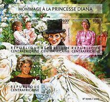 République CENTRAFRICAINE 2015 neuf sans charnière Princesse Diana hommage 4V m / s Royalty
