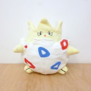 "Official Pokemon Tomy Togepi Egg Reversible Transform Plush Soft Toy Japan 4.5"""