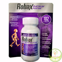 Robax Platinum® Ibuprofen + Muscle Relaxant, 102 caplets, Exp JUNE,2022