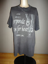 Vintage 1985 AMERICAN HEART ASSOCIATION Gray Thin 50/50 Shirt - Adult Size