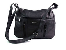 LADIES QUALITY REAL LEATHER CROSSOVER BODY SHOULDER BAG HOBO MESSENGER HANDBAG