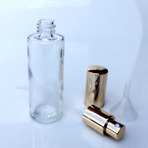 Parfum Flakon -Parfum Flasche -GLAS- leer - NEU + Trichter - 50ml-GOLD-501G