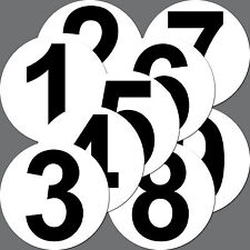 Set 1 - 9 Aufkleber Sticker Zahl Start Nummer Racing Kart Gokart Auto Rennsport