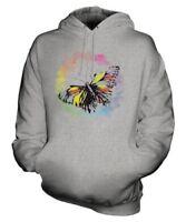 Papillon Couleurs D'Eau Unisexe Imprimé Mode Capuche Joli Magnifique Féminin