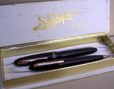 PARURE STYLO  SOMA PLUME OR 18K & MINES ANCIEN COLLECTION VERS 1950