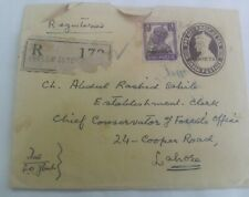 PAKISTAN LOCAL OVER PRINT ON BR.INDIA KG 6th COVER USED 1947. CONDITION AS PiC.