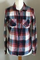 George Size 10 Ladies Long Sleeve Red, White & Blue Check Shirt Top