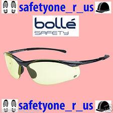 Bolle Safety Glasses - Sidewinder - Gun Metal Gloss Frame - Amber Lens