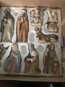 Vintage #5599 HOMCO Home Interiors 9-pc Porcelain Christmas Nativity Set