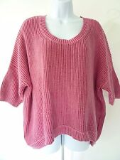 BCBGeneration Womens Pink Chunky Knit Crew-Neck Sweater, size M