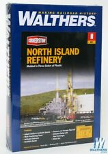"""Walthers 933-3219 North Island Oil Refinery Kit - 8-1/16 x 5"""" : N Scale"""