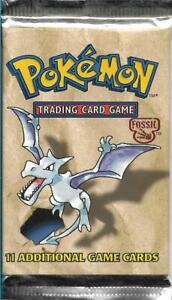 Pokemon 1999 Unopened Booster Pack FOSSIL AERODACTYL