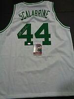 Brian Scalabrine Boston Celtics Autographed Custom Style Jersey Coa--JSA