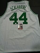 Brian Scalabrine Boston Celtics Autographed Custom Style Jersey Coa--JSA *