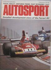 AUTOSPORT magazine 5 September 1974