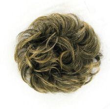chouchou peruk cheveux brun méché doré ref: 17 en 1bt24b