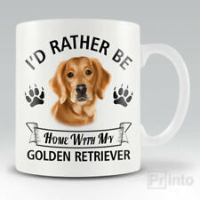 I'D RATHER BE HOME WITH MY GOLDEN RETRIEVER Funny mug, novelty cup dog gift
