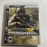 SOCOM Confrontation US Navy Seals PlayStation 3 PS3 Complete Video Game