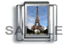 EIFFEL TOWER DAY in PARIS FRANCE 9MM ITALIAN PHOTO CHARM LINK vacation travel