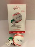 2016 Hallmark Slugger Snoopy Baseball Christmas Tree Ornament  Peanuts