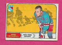 1968-69 OPC # 69 RANGERS HARRY HOWELL  GOOD  CARD  (INV# C8246)