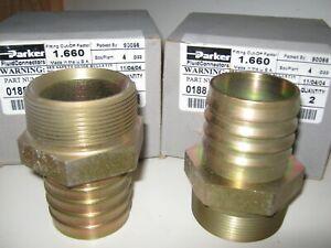 PARKER #188-32-32 Male NPTF Pipe Rigid - Straight (2 units/Box)