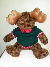 Vintage Plush Toy Christmas Morris the Moose Sweater Bow Tie
