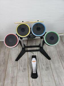 Rock Band 3 Harmonix PS3 PS4 Wireless Drum Set PSDMS2 With Pedal & Drum Sticks