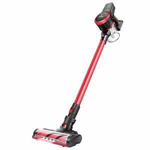 MOOSOO UPGRADED K17 Cordless Vacuum Cleaner 23Kpa 4-in-1 Stick Ultra-Quiet Red