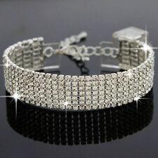 Crystal White Gold Plated Rhinestone Costume Bracelets
