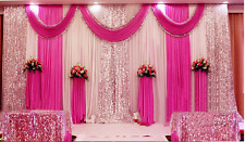 Fairy Wedding Backdrop Curtain Party Decor Background with Silver Sequin Swag