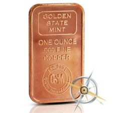 1 oz Copper Bar - Golden State Mint