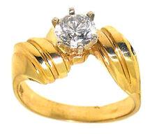 0.85ct Round Diamond Ring 14k Yellow Gold