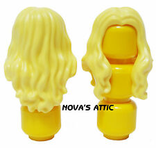 LEGO LONG OVER SHOULDER  BLONDE YELLOW FEMALE GIRL MINIFIGURE HAIR  NEW